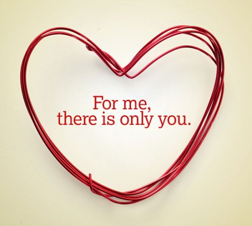Heart For me there is only you